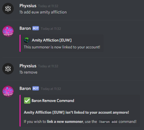 Baron A Lol Discord Bot