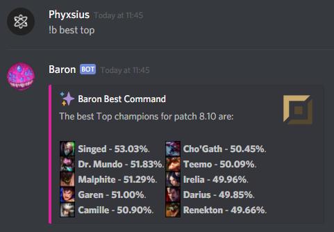 Darmowa dostawa zegarek buty do separacji Baron, a LoL Discord Bot.