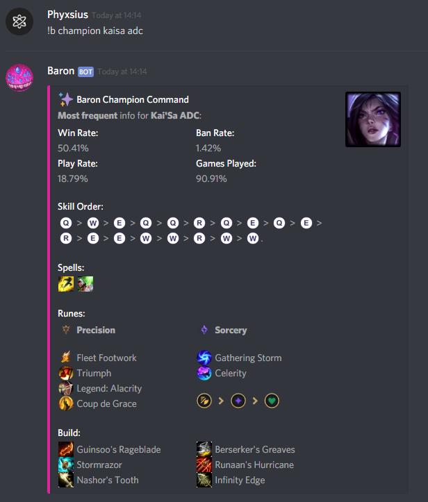 Baron | Discord Bots
